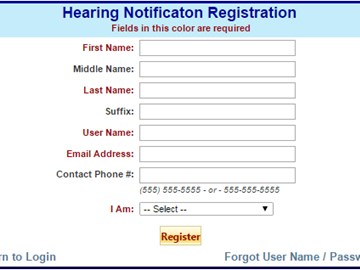 Register to receive court date notifications